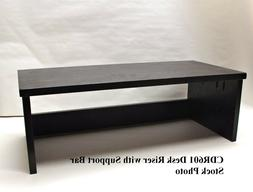 15% OFF TV Riser Desk Stand Black w/ Support Bar 26L-14W-8H