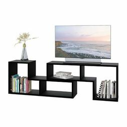 DEVAISE TV Stand/2 Pieces Bookcase/Bookshelf