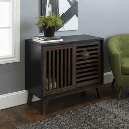"WE Furniture TV Stand, 36"", Black/Dark Walnut New"