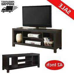 """TV Stand 42"""" Tv's Classic Open Storage Compartments Wood fur"""
