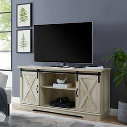 "TV Stand, 58"" Modern Farmhouse with 2 sliding Barn Doors  -"