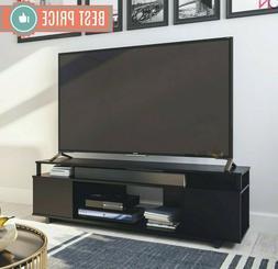 TV STAND 65 Inch Solid Wood Black Oak Standing Flat Screen M