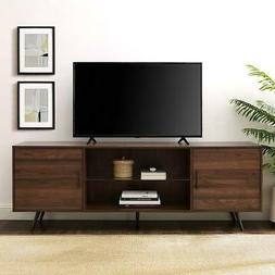 TV Stand 70 in Ample Storage Room Wood Frame Modern Cable Ma