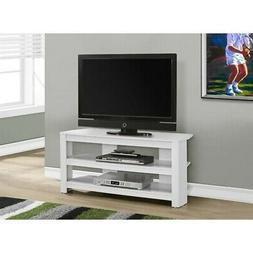 """Monarch TV Stand, 42"""", White"""