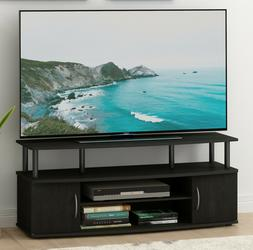 TV Stand Black Storage Shelves Cabinet Media Console For 55