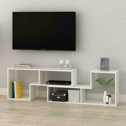 DEVAISE TV Stand / 2 Pieces Bookcase / Bookshelf