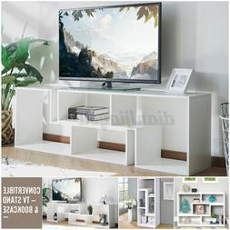 TV Stand Black Cabinet Unit DIY 4 Convertible Types Bookcase