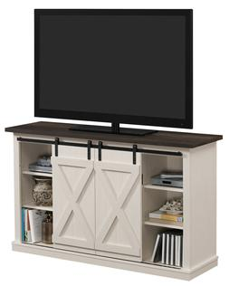 TV Stand Cabinet with Sliding Barn Doors for TVs up to 60 in