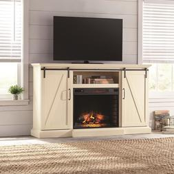 TV Stand Electric Fireplace Heater Adjustable Flame Remote H