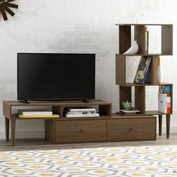TV Stand Entertainment Center Cabinet Storage Drawers Home O