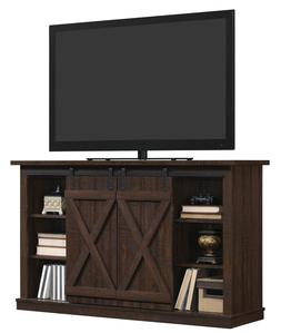 TV Stand Entertainment Center Console Wood Barn Door Rustic