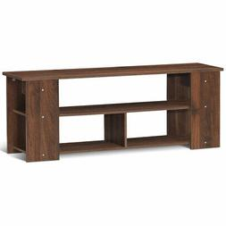 Brown 2-Tier TV Stand Entertainment Media Center Console She