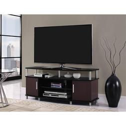 """Carson TV Stand, for TVs up to 50"""", Black and Cherry"""