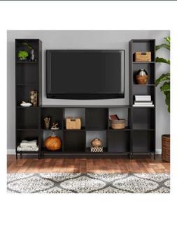 TV Stand Home Cube Storage Entertainment Espresso Center Liv