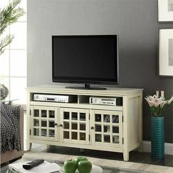 Linon Pine Mdf Media Cabinet With White Finish 650202WHT01U