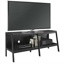 TV STAND: Ladder Style Entertainment Center in All Black; Ho