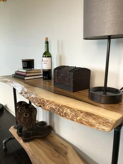 TV Stand Live Edge Distressed Oak Entry/Console Table