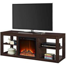 TV Stand Media Entertainment Center Console & Electric Firep