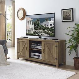 TV Stand Media Entertainment Center Sliding Barn Wood Doors