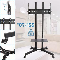 TV Stand Mobile Cart w/ Storage Shelf fits 32 36 40 42 46 47