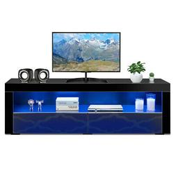TV Stand Modern High Gloss Media Console Cabinet Entertainme