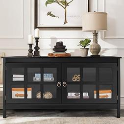 Tangkula TV Stand Modern Wood Large Wide Entertainment Cente