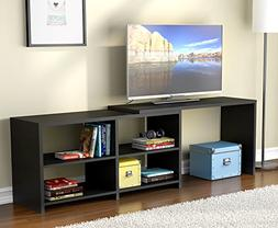 Tribesigns TV Stand with Length Adjustable  Design, Wood TV