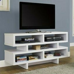 "MONARCH TV STAND - 48""L/WHITE"