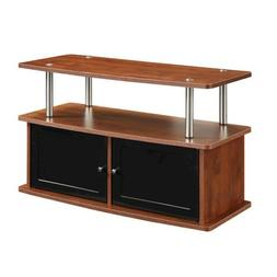 Convenience Concepts TV Stand with 2 Cabinets, Cherry