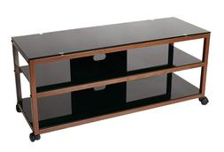TransDeco TV Stand TD585DB with Casters & 2 AV Shelves for F