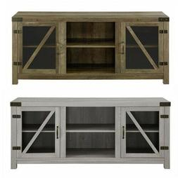 TV Stand Television Living Room Rustic Gray Den Furniture In