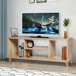 TV Stand Unit Cabinet 4 Shelves Media Storage Console Table
