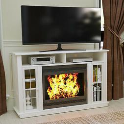 TV Stand Unit Console w/ Storage Fireplace Mantel Surround f