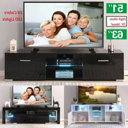 LED TV Stand Entertainment Center Unit Shelf Cabinet Modern