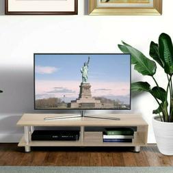 TV Stand With 2-Shelf Storage Media Furniture Wood Storage C