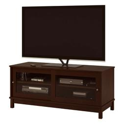 TV Stand with Sliding Glass Doors, Designed for T Vs up to 5