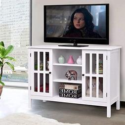 tv stand wood white standing