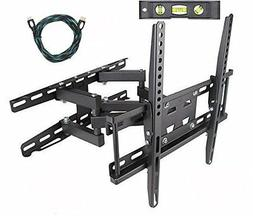 TV Wall Mount Bracket Dual Arm Articulating Swivel LCD LED F