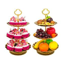 Two Set of Three Tier Cake Stand and Fruit Plate by Imillet