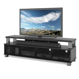 """Two Tier TV Bench in Ravenwood Black, for TVs up to 80"""""""