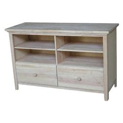 International Concepts Unfinished Entertainment/TV Stand wit