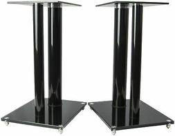 VIVO Premium Universal Floor Speaker Stands Dual Pillar for