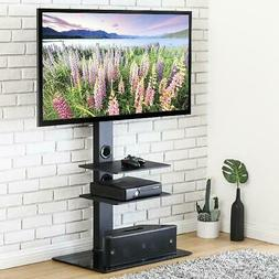 FITUEYES Universal Floor Swivel TV Base TV Stand with Mount