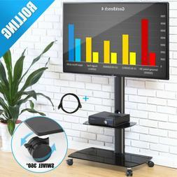 Jumbo Floor TV Stand Adjustable with Mount Rolling Cart Up t