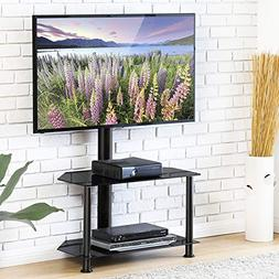 FITUEYES Floor TV Stand with Swivel Mount and Height Adjusta