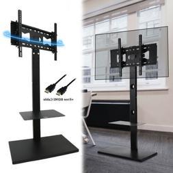 Universal Swivel Floor TV Stand with Mount Height Adjustable