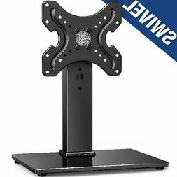 FITUEYES Universal Swivel Tabletop TV Stand base with mount
