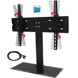 Universal Table Top Tilting TV Stand for Flat Screens Stable