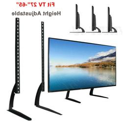 """Universal Table Top TV Stand Base Mount for 27- 65"""" Height A"""