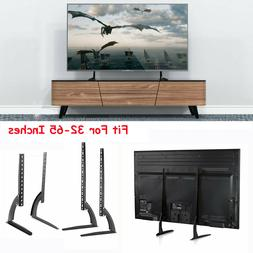"Universal Tabletop TV Stand Pedestal Base Mount for 18""- 80"""